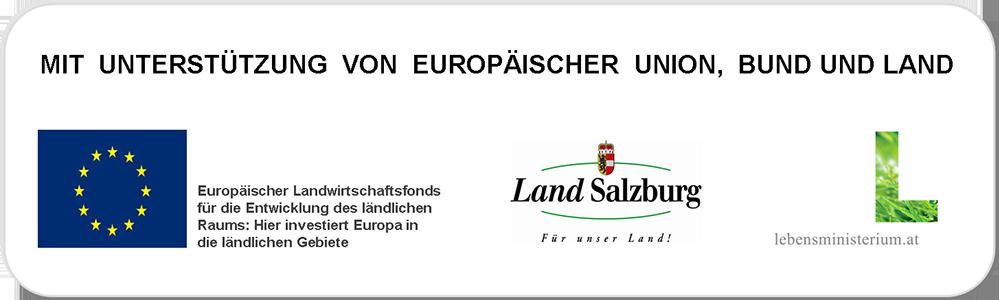 Mit Unterstützung von Europäischer Union, Bund und Land